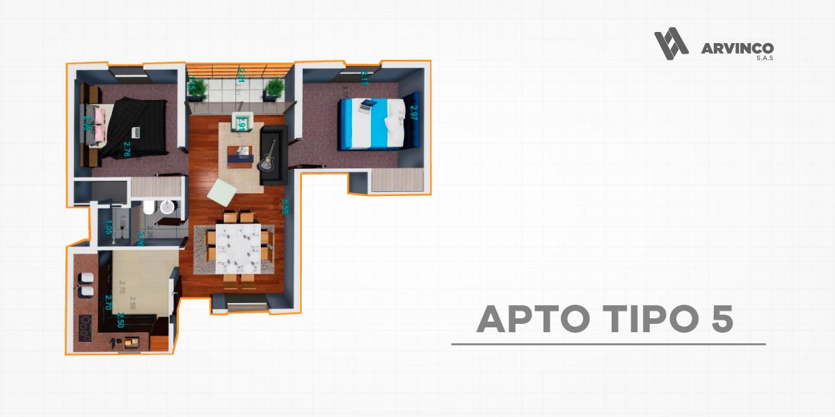 APT TIPO 5 / 55,54 m2