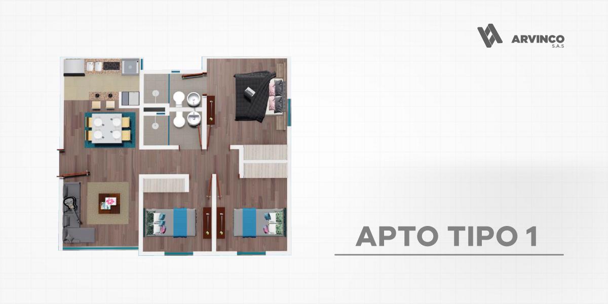 APT TIPO 1 / 58,9 m2