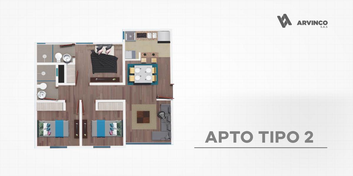 APT TIPO 2 / 53,44 m2
