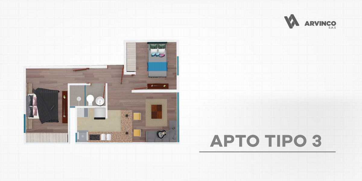 APT TIPO 3 / 39,23 m2